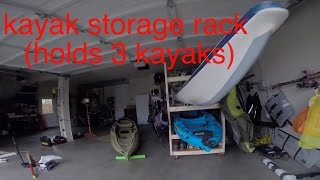 DIY: Kayak Storage Rack and Gear Holder