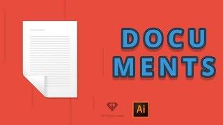Documents! Vector document in Adobe Illustrator - speedart #12