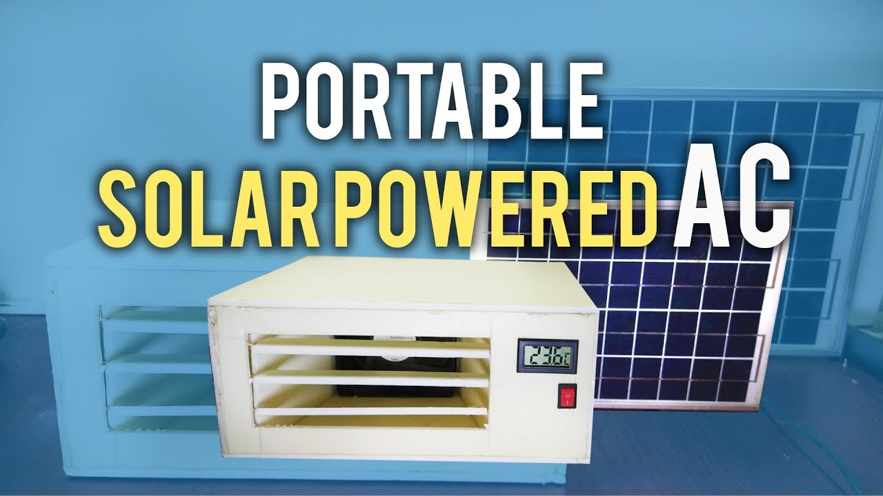 How To Make Mini Ac At Home Solar Powered Air Conditioner Youtube