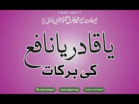 Ya Qadir Ya Nafay Ki Barkat Wazifa Hakeem Tariq Mehmood