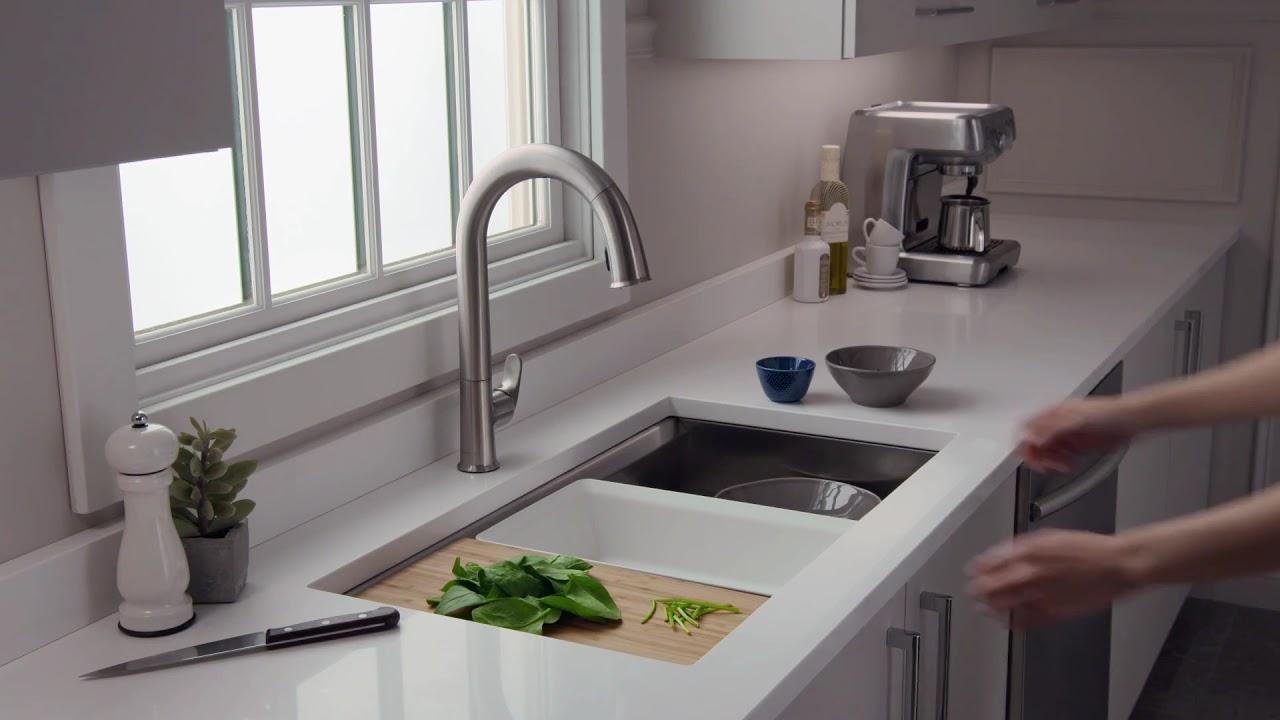 prolific stainless steel kitchen sink kohler