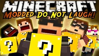 minecraft modded mini game do not laugh 25 lucky blocks