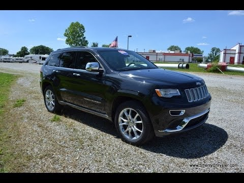 2014 jeep grand cherokee summit 4x4 suv black for sale dayton troy piqua sidney ohio cp13782t. Black Bedroom Furniture Sets. Home Design Ideas