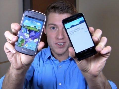 Samsung Galaxy Axiom vs  Motorola Electrify M Dogfight Part 1