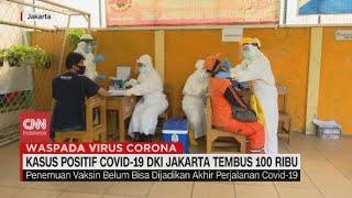 Kasus Positif Covid-19 DKI Jakarta Tembus 100 Ribu