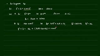 공학수학 1-2장 (Nonhomogeneous ODEs…