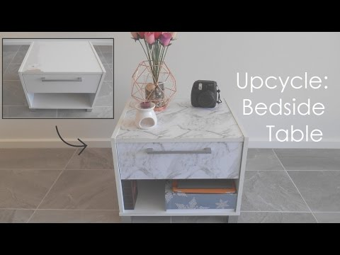 Diy Upcycle Marble Bedside Table Kmart Hack Instagram Tumblr Pintrest Af
