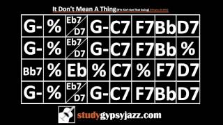 gypsy jazz backing track play along it don t mean a thing if you ain t got that swing