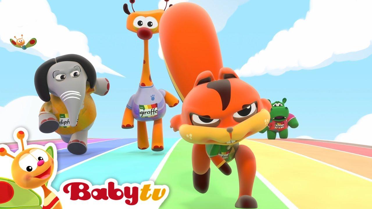 O Clube Desportivo da BabyTV apresenta a grande corrida de 100 m 🏆 | Jogos Olímpicos #Tokyo2020