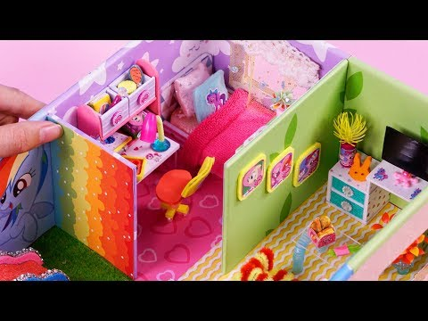 4 DIY Miniature Dollhouse Rooms - Full house