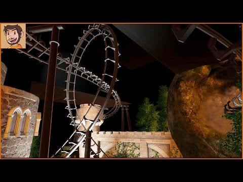 COASTER BUILD | Dark Ride | Riding the Coaster (Planet Coaster)
