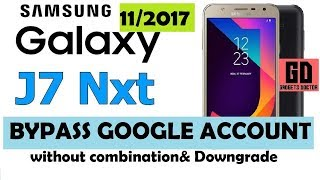 Bypass FRP GOOGLE ACCOUNT FOR SAMSUNG J7 NXT SM-J701F - ANDROID-7 | Without Combination