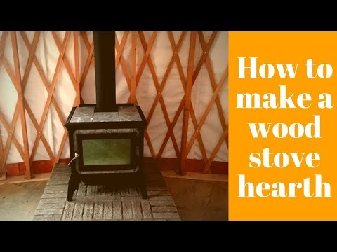 How To Build a Hearth for a Wood Stove