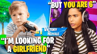 The 6 YEAR OLD Bachelor! -(Fortnite - Battle Royale) Chica