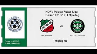 CFC Hertha 06 - HSG Uni Greifswald (Highlights)