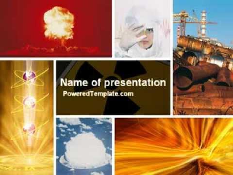 Radiation powerpoint template by poweredtemplate youtube toneelgroepblik Gallery