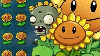 Ночной уровень без грибов // Plants vs. Zombies #25