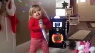 Little Girl Singing & Dancing on Karaoke Latest Funny Videos 2016