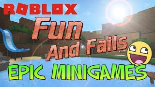 ROBLOX | How to play Roblox Minigames | Roblox Lets Play Minigames fails and Funny Moments