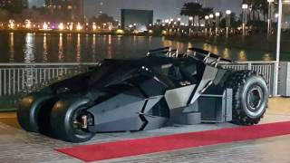 Batmobile at Burj Khalifa in Dubai 28.12.2016