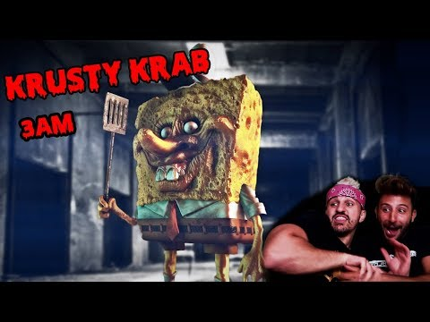 (CREEPY) DONT GO TO THE KRUSTY KRAB AT 3 AM (LIGHTS OUT CHALLENGE)