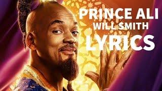"Will Smith - Prince Ali (Lyrics) [from ""Aladdin"" Soundtrack]"