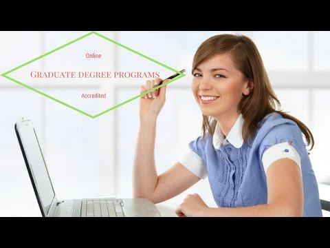 Online Graduate degree programs Accredited