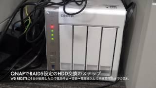 QNAP TS-451のRAID5のHDDが故障したので交換(ホットスワップ対応NAS)