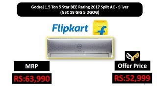 Godrej 1.5 Ton 5 Star BEE Rating 2017 Split AC - Silver (GSC 18 GIG 5 DGOG)