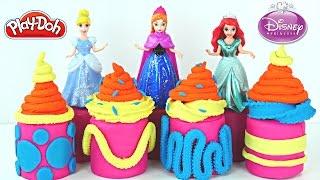 NEW Surprise Eggs Disney Princess Fashems Play Doh Rapunzel Sleeping Beauty Chocolate Egg Toys