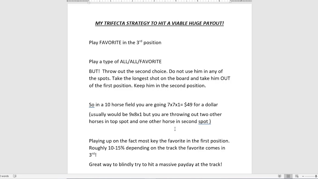 Download BEST Horse Racing Trifecta Strategy To Consistently Get Huge Payouts Part 1