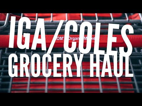 IGA/Coles Grocery Haul Australia