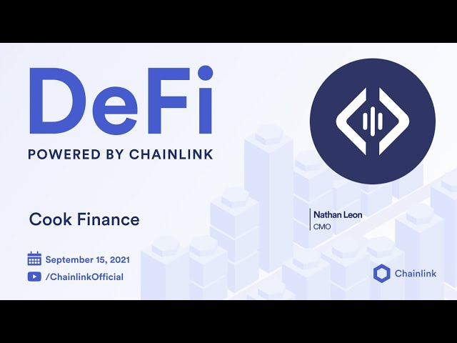 Cook Finance on Chainlink Live | Cross-Chain Asset Management for DeFi