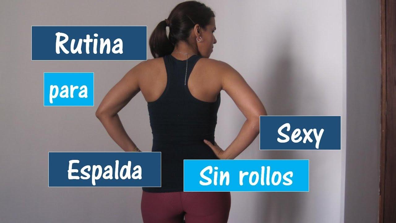 Ejercicio Para Espalda Mujerestonifica Y Elimina Los Rollitos De La