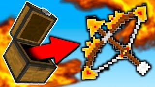 POWER 10 GOD BOW!! (Minecraft Skywars)