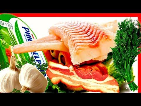 """Фаршированная рыба сыром """"филадельфия"""" и чесноком. Блюдо праздничного стола."""