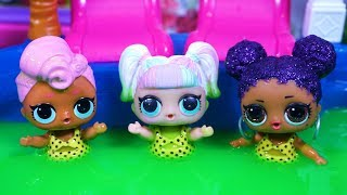 LOL SURPRISE DOLLS Swim In Pool Of Slime!