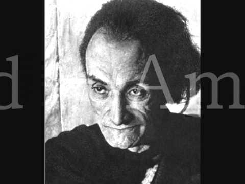 Antonin Artaud - Amour - Lecture de poème