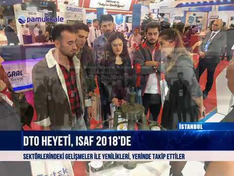 Pamukkale DTO heyeti, ISAF 2018'de 15 10 2018