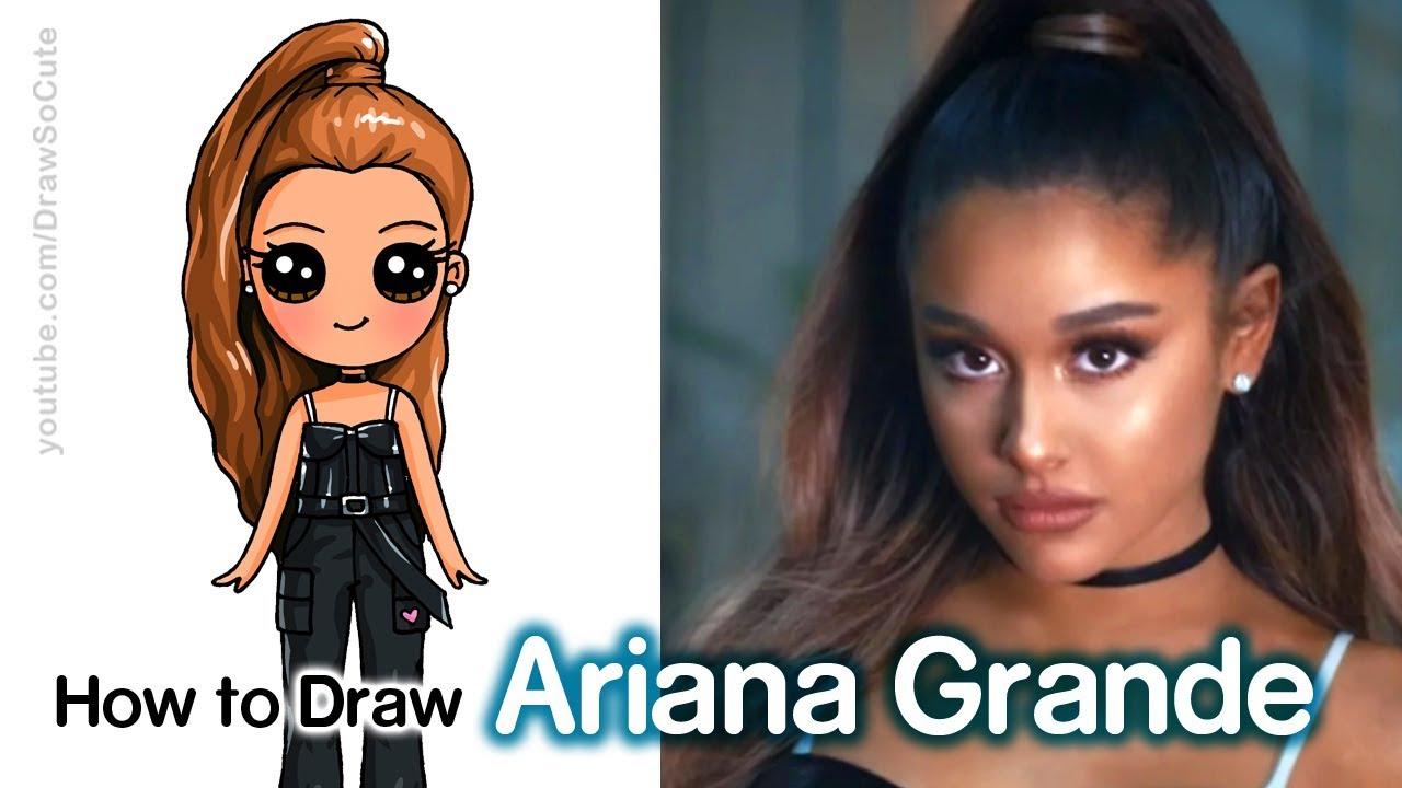 How to draw ariana grande breathin