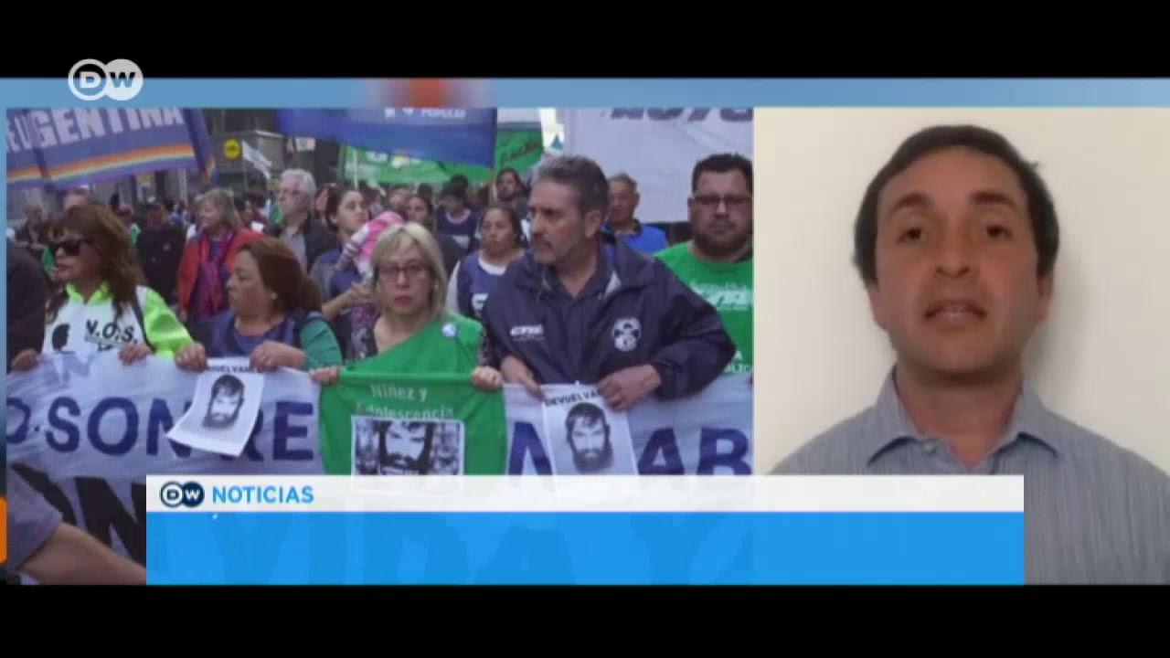 Argentina Marchas Por Santiago Maldonado Youtube
