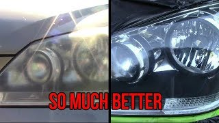 Headlight Renewal Using Nulens Kit From Mothers (Restore)