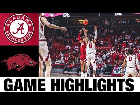 #6 Alabama vs #20 Arkansas Highlights | 2021 College Basketball Highlights