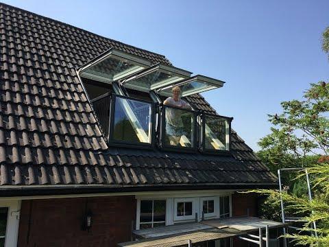 Installing Triple Velux Cabrio Balcony Windows