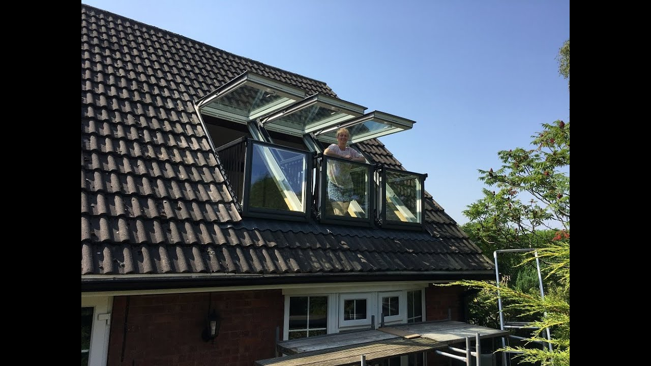 Installing Triple Velux Cabrio Balcony Windows - YouTube