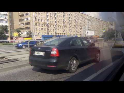 . Москва. Щелковское шоссе-Гольяново. Поездка по городу на автобусе (ВАО)
