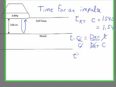ultrasound physics round trip time calculation youtube. Black Bedroom Furniture Sets. Home Design Ideas