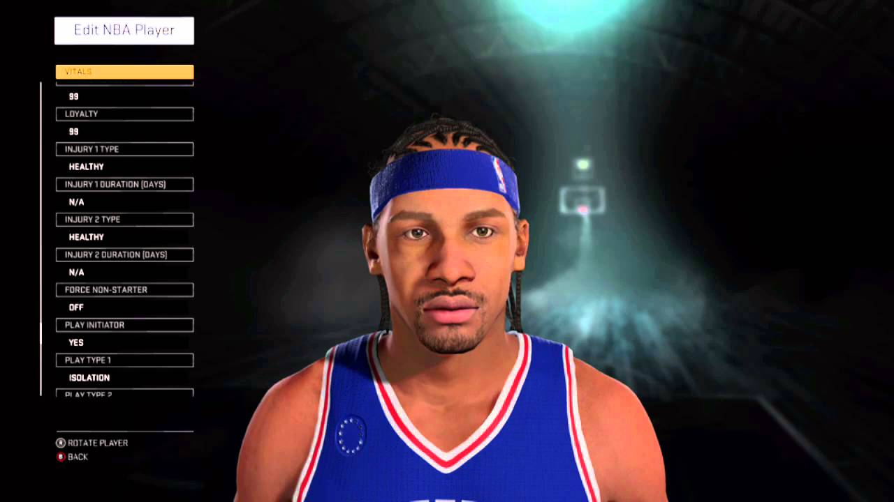 Allen Iverson NBA 2K16 Created Player : Rookie Year (R.O.Y ...
