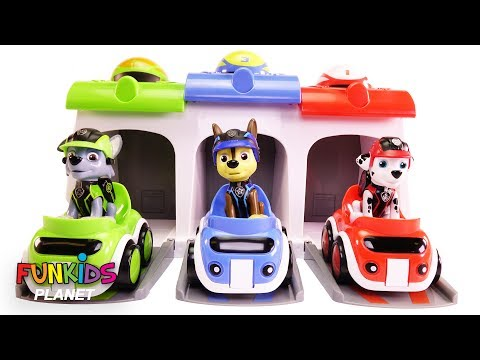Thumbnail: Learn Colors Videos for Kids: Paw Patrol Chase & Pups Car Race Rainbow Colored Garage