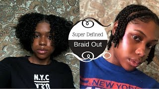 Super Defined BraidOut On Natural Hair | KiraAaliyah